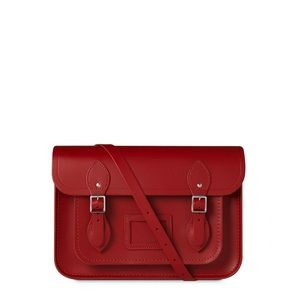 "Classic Red 13"" Cambridge Satchel Co."